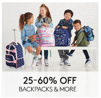 25–60% Off Backpacks & More from Pottery Barn Kids