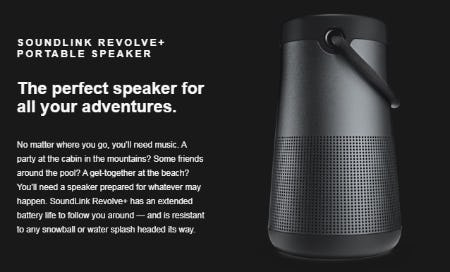 The Soundlink Revolve+ Portable Speaker from Bose