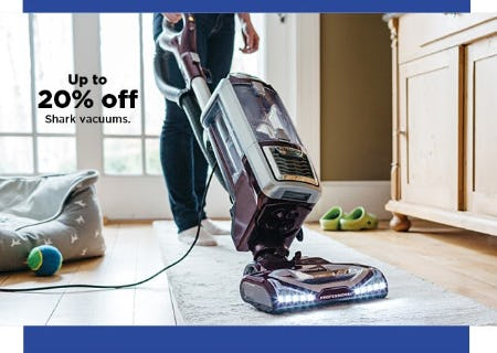 Up to 20% Off Shark Vacuums from Kohl's