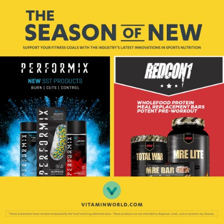 New Arrivals in Sports Nutrition from Vitamin World