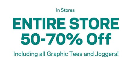 50-70% Off Entire Store from Aéropostale