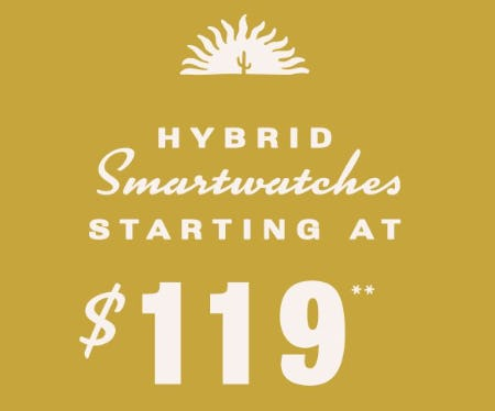 Hybrid Smartwatches Starting at $119