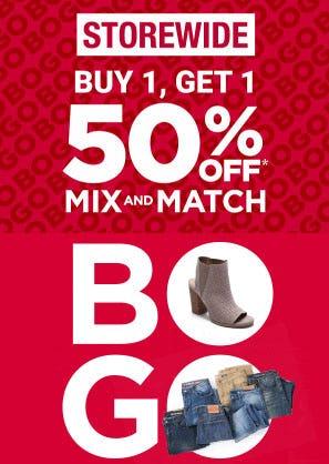 BOGO 50% Off Storewide from Belk