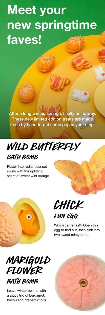 New Springtime Faves from LUSH