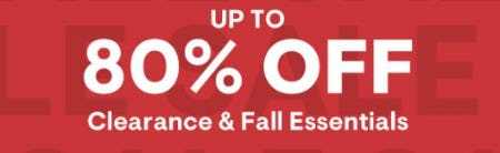 Up to 80% Off Clearance & Fall Essentials