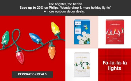 Up to 20% Off Decoration Deals