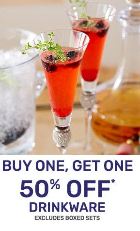 BOGO 50% Off Drinkware from Pier 1 Imports