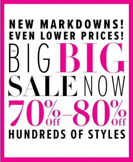70% Off - 80% Off Hundreds of Styles from New York & Company