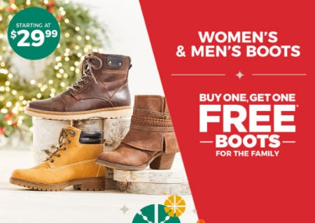 BOGO Free Boots from Rack Room Shoes