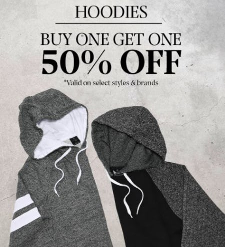 Hoodies Buy One, Get One 50% Off
