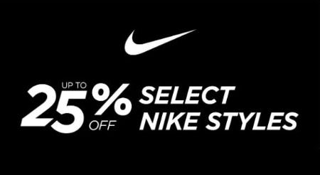 Up to 25% Off Select Nike Styles from Rack Room Shoes