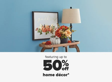 50% Off Home Decor from Belk