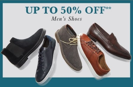 Up to 50% Off Men's Shoes from Lord & Taylor