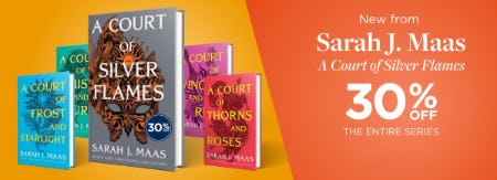 30% Off on The Entire A Court of Silver Flames Series