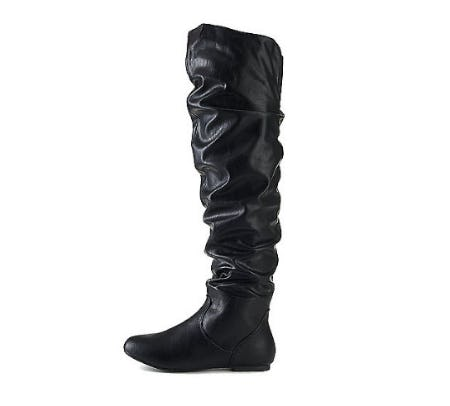 Black Women's Vickie HI Knee-High Pocket Boot from Shiekh