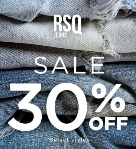 30% Off RSQ Jeans from Tillys