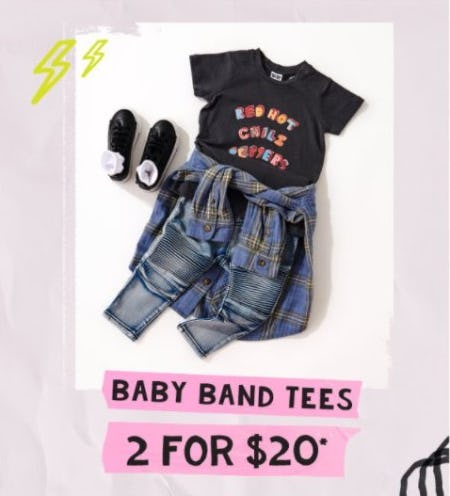 2 for $20 Baby Band Tees from Cotton On Kids