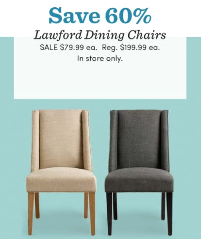 Save 60% on Lawford Dining Chairs from Cost Plus World Market