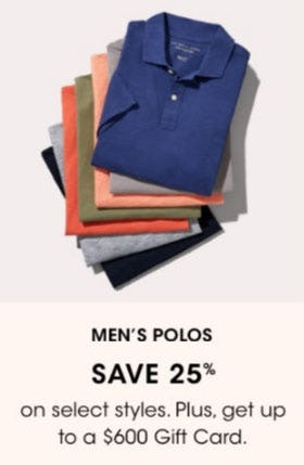 Men's Polos Save 25% from Bloomingdale's