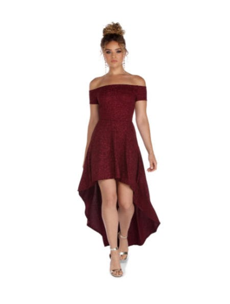 Penelope Glitter Formal High Low Dress from Windsor