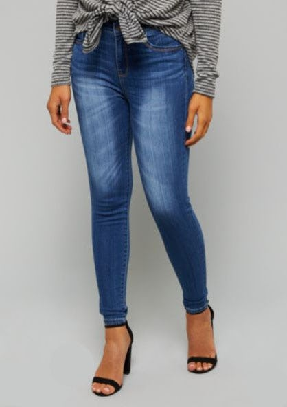 Medium Wash High Waisted Skinny Booty Jeans from rue21