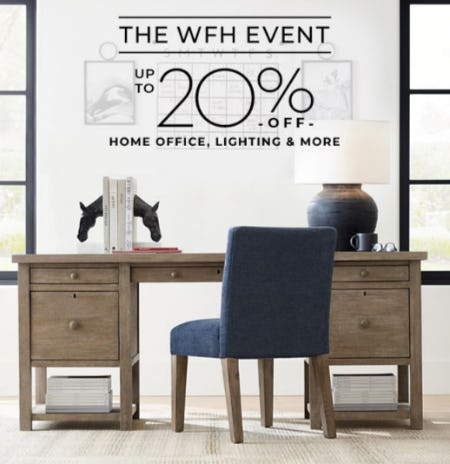 Up to 20% Off Home Office, Lighting & More from Pottery Barn