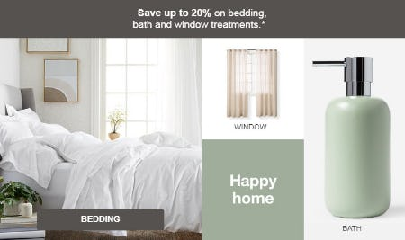 Up to 20% Off Bedding, Bath & Window Treatments from Target