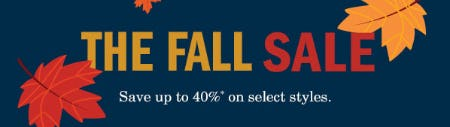Up to 40% Off The Fall Sale from Johnston & Murphy