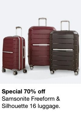 70% Off Samsonite Freeform & Silhouette 16 Luggage