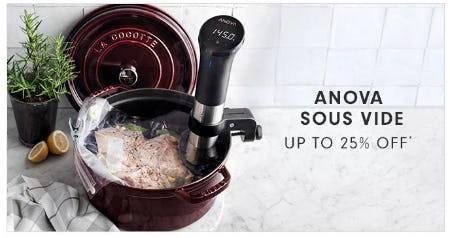 Up to 25% Off Anova Sous Vide from Williams-Sonoma