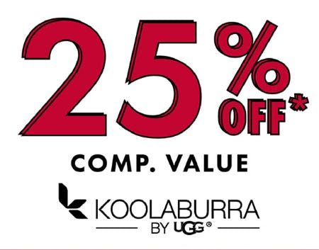 Save 25% Off Comp. Value on Koolaburra by UGG