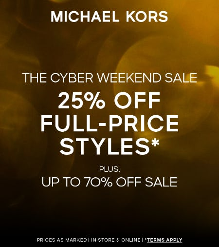Cyber Weekend Sale from Michael Kors