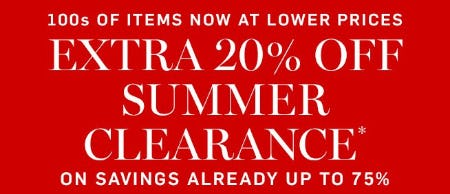 Extra 20% Off Summer Clearance