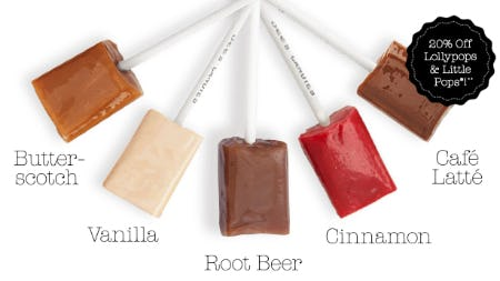 20% Off on Lollypops & Little Pops from See's Candies