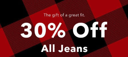 30% Off All Jeans from American Eagle Outfitters