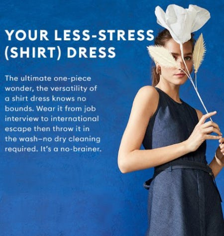 Your Less-Stress (Shirt) Dress from Banana Republic