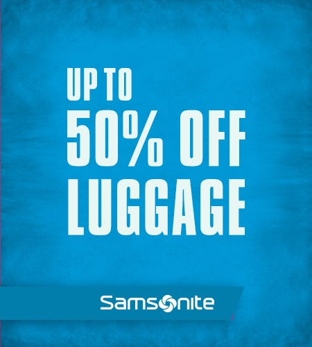 Memorial Day Sale! Up to 50% Off Luggage! from Samsonite