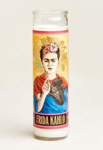 Frida Kahlo Saint Candle