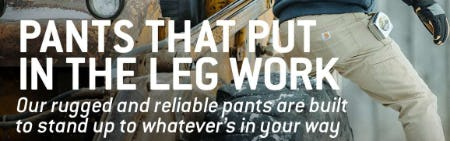Pants That Put In The Leg Work from Carhartt