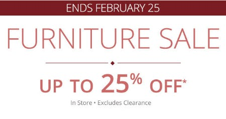 Up to 25% Off Furniture Sale from Pier 1 Imports