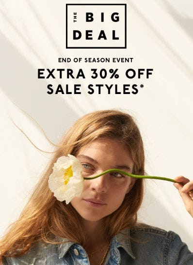 Extra 30% Off End of Season Event from Madewell