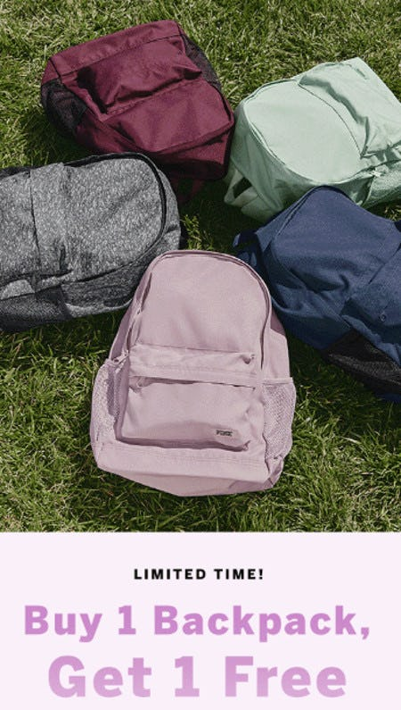 Buy 1 Backpack, Get 1 Free from Victoria's Secret