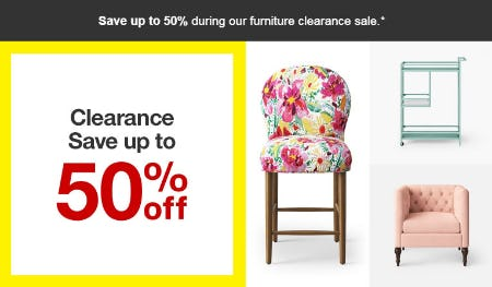 Up to 50% Off Clearance from Target