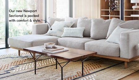 The New Newport Sectional from West Elm