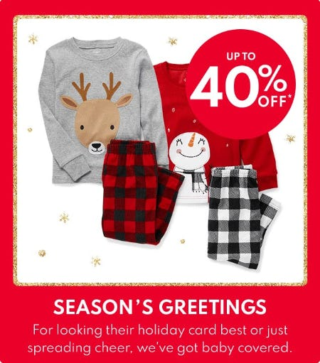 Up to 40% Off Select Styles from Carter's