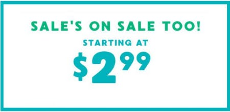 Sale's on Sale Starting at $2.99 from Gymboree