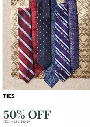 Ties 50% Off from Jos. A. Bank