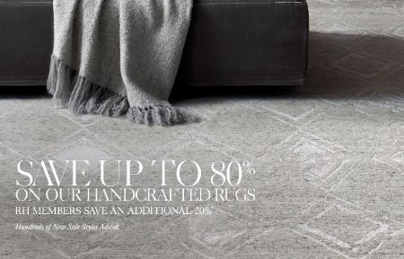 Up to 80% Off Handcrafted Rugs from Restoration Hardware