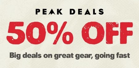 50% Off Big Deals on Great Gear from REI