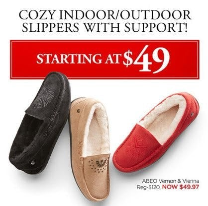 Cozy Indoor/Outdoor Slippers With Support Starting at $49